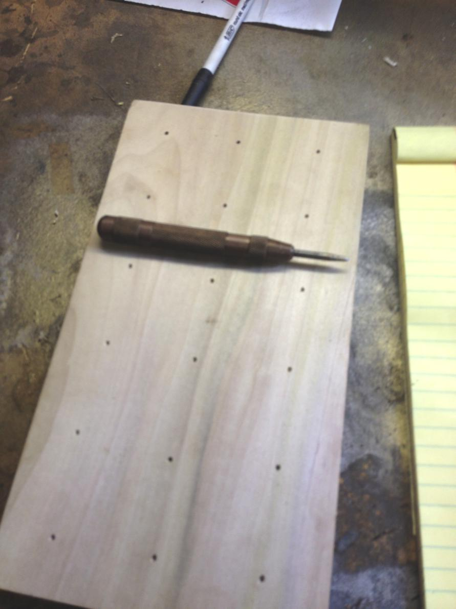 Marking and Drilling the Holes in the Board
