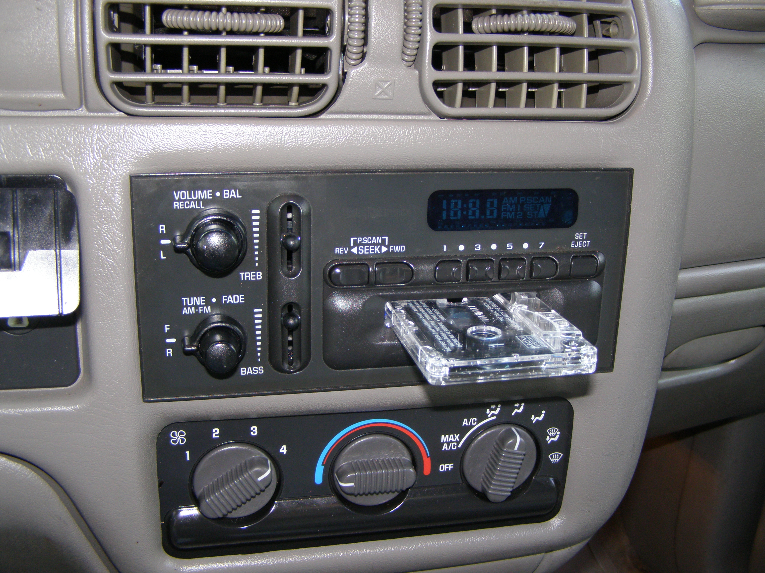 Car stereo stock radio fake-out