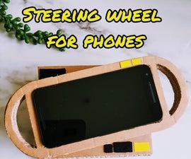 Cardboard Steering Wheel for Phone