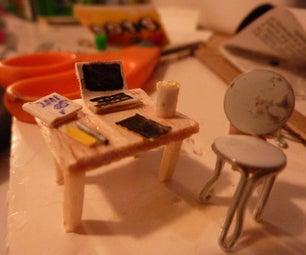 Micro Office Desk and Chair With Accessories