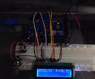 Thermometer in a LCD