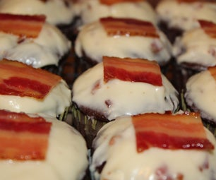 Chocolate Guinness Cupcakes With a Maple Candied-Bacon Frosting