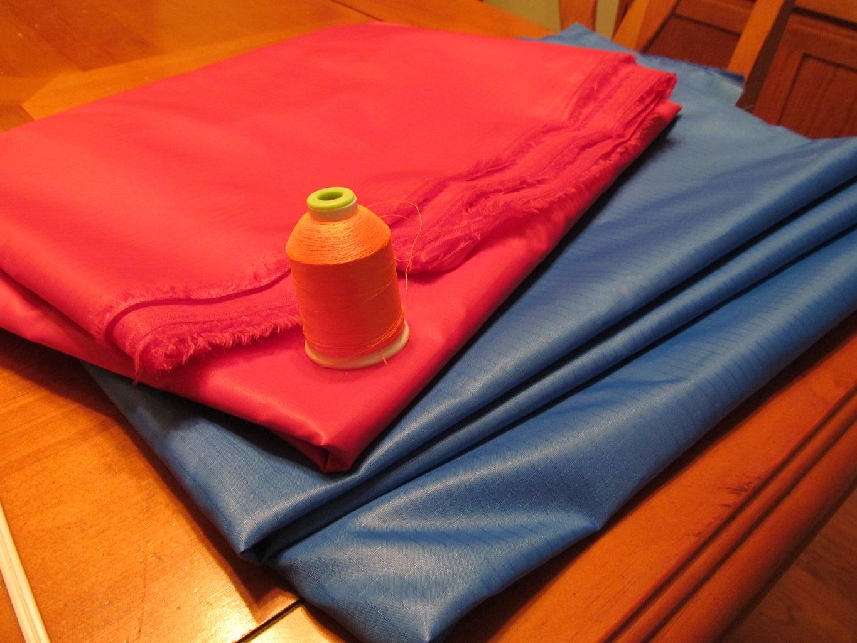 Sewing Rip Stop Nylon Fabric.