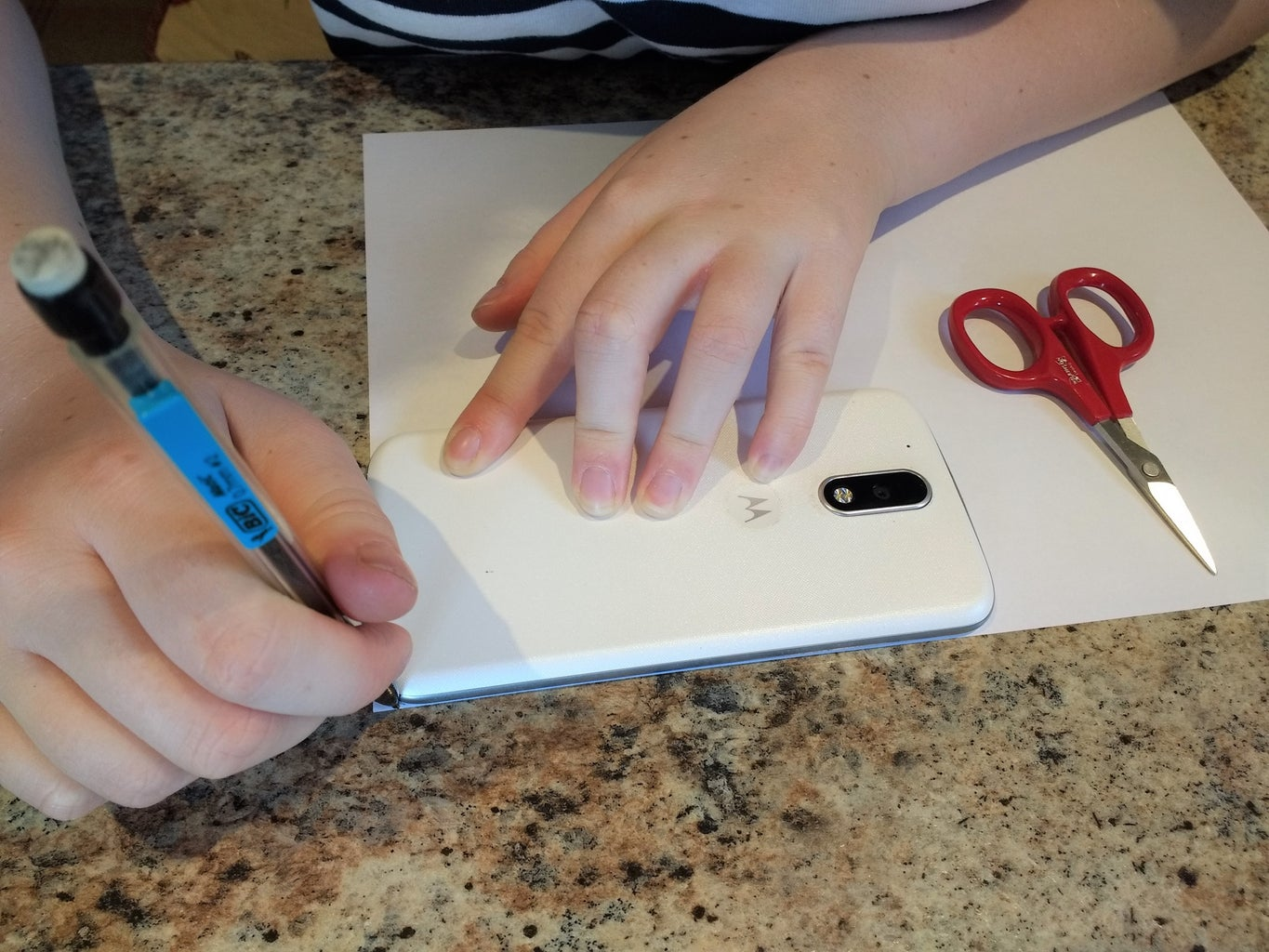 Cutting Out Phone Shapes