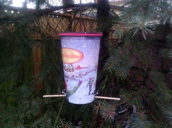 The CHICKADEE 9000 - Coffee Cup Bird Feeder