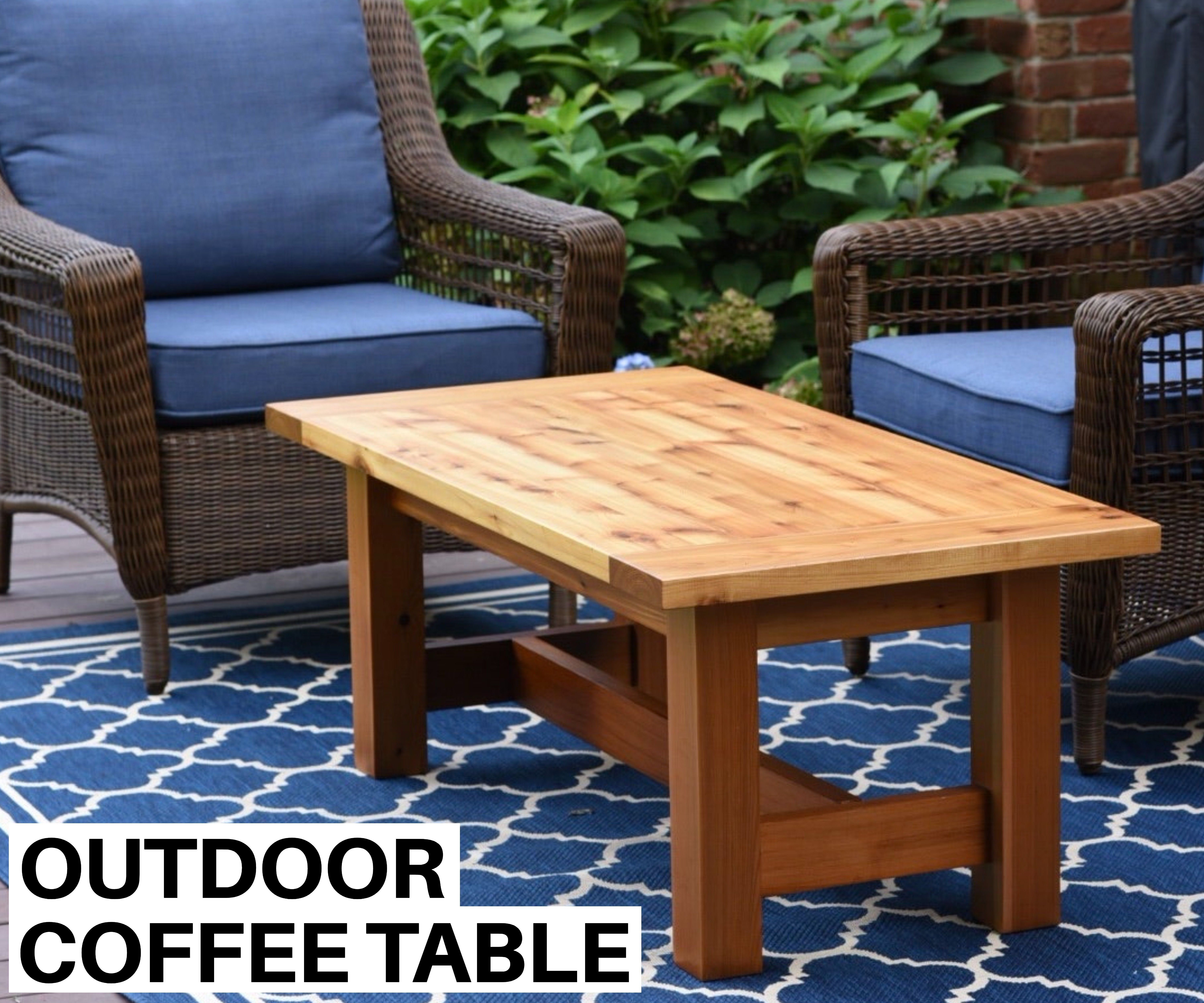 Build an Outdoor Coffee Table
