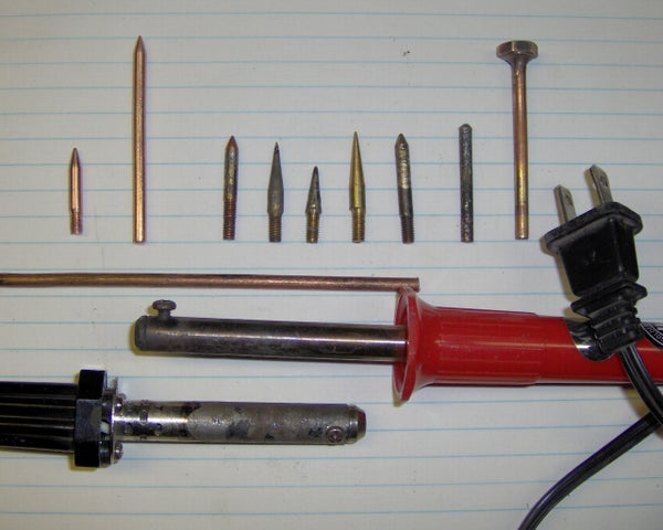 Soldering Iron Tips From 6 AWG Copper Wire