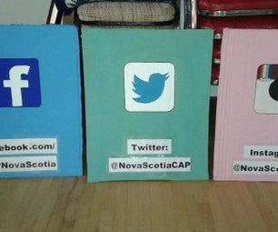 Social Media Sandwich Boards