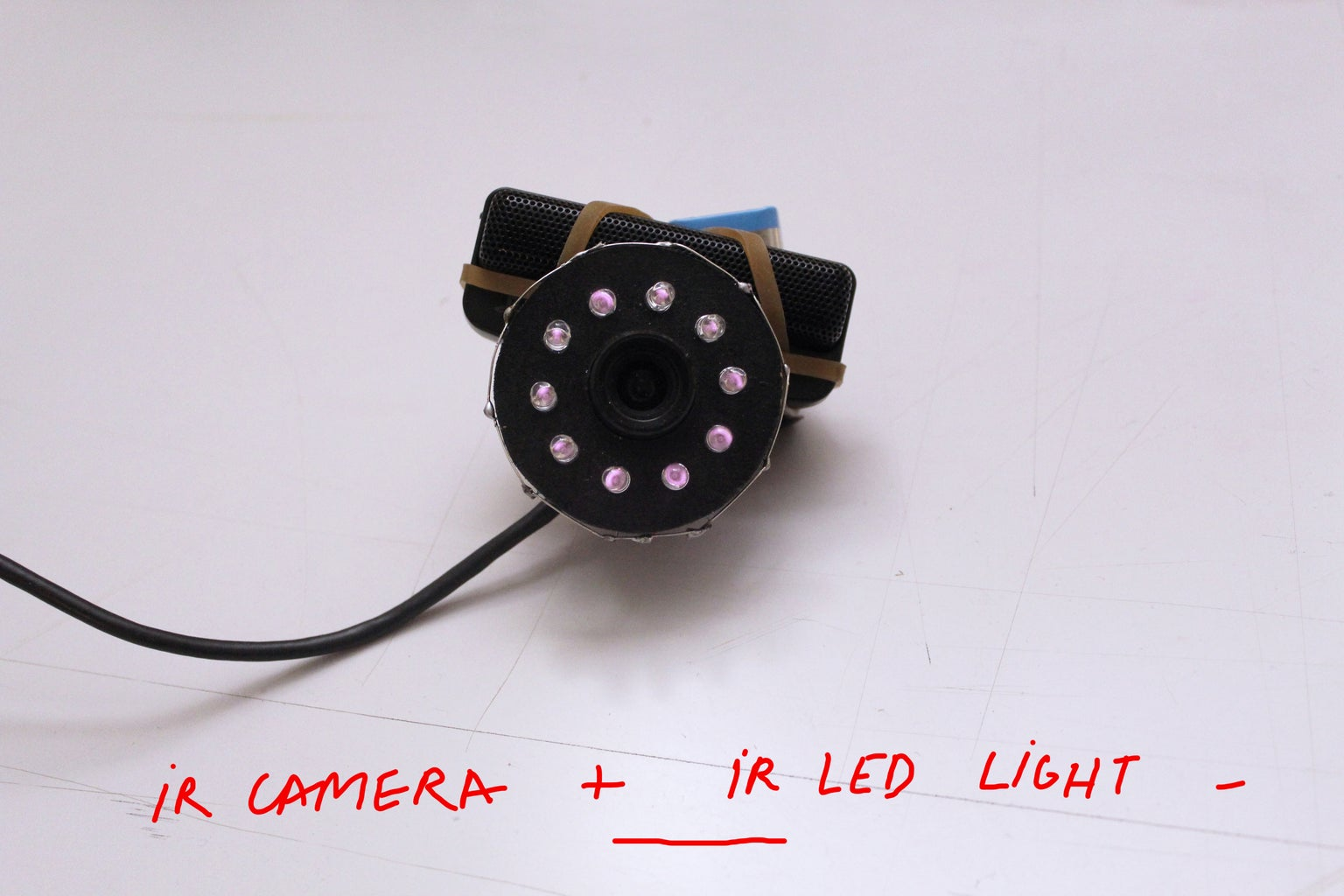 HOW TO MAKE AN INFRARED CAMERA WITH AN IR LED LIGHT
