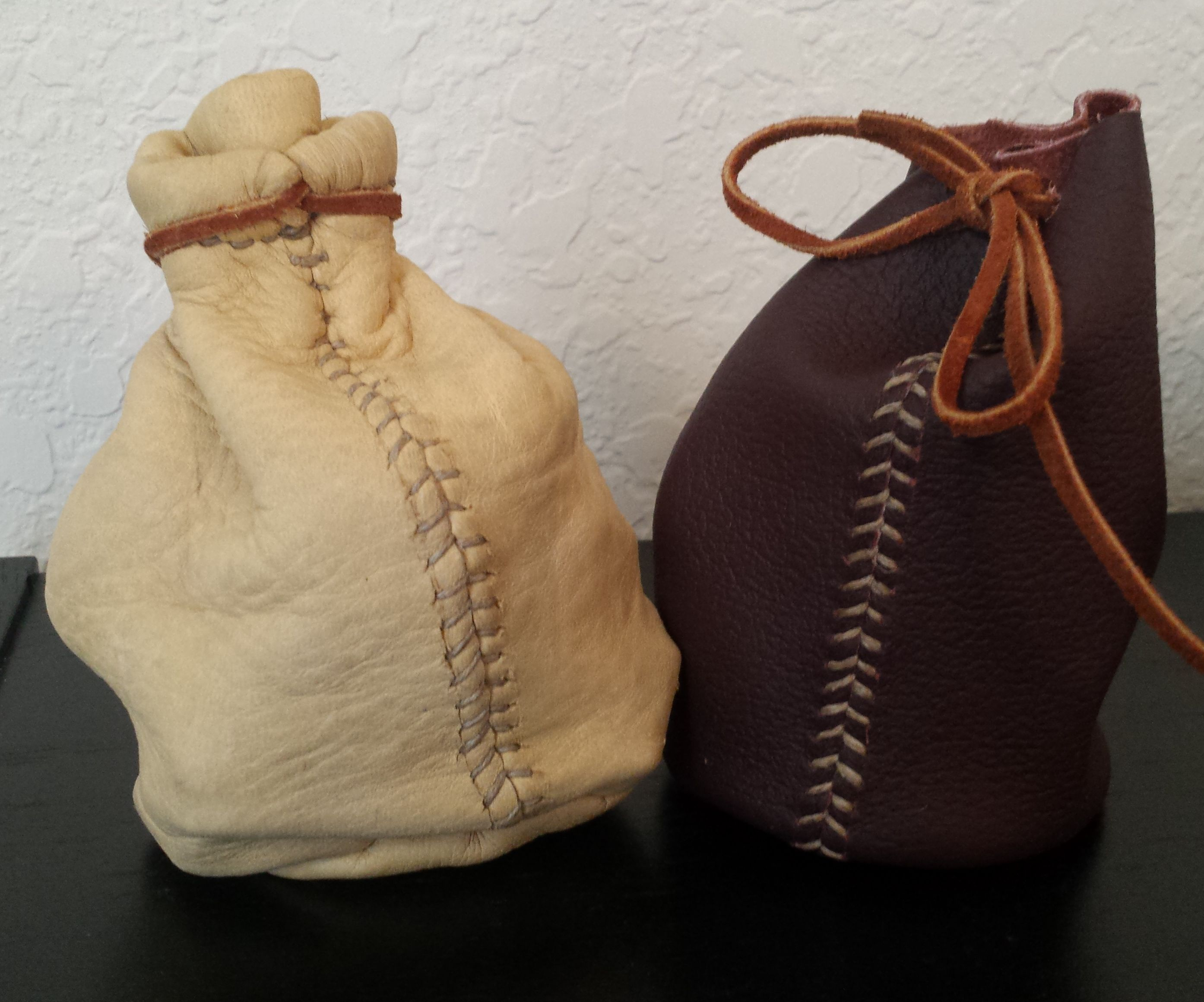 Skyrim Inspired Leather Coin Pouch/Dice Bag
