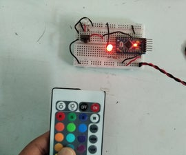 IR Remote Controlled RGB Led Using Arduino Pro Mini
