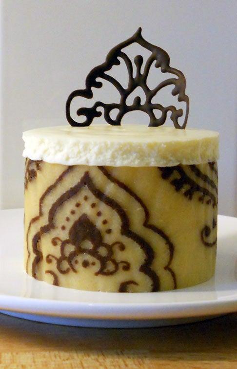 Chocolate Mehndi Mousse Cakes