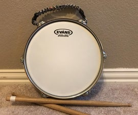 Realistic Feeling Drum/Pad With Carry Handle and Plywood Base!