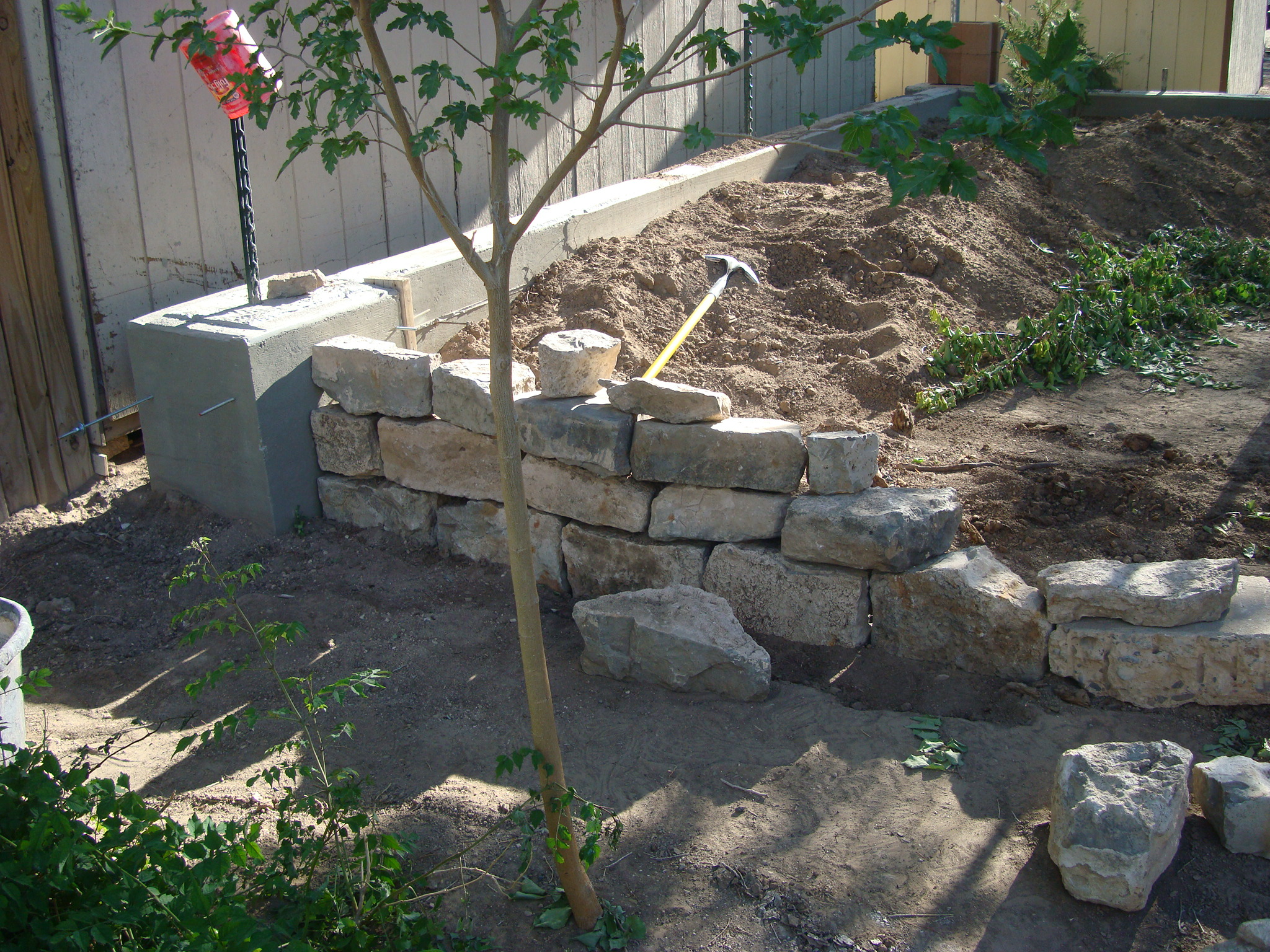 Retaining Wall And Footer/ pouring concrete