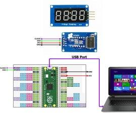 Raspberry Pi Pico -- TM1637 – 4 Digit, 7 Segment Multiplexed Display Interface
