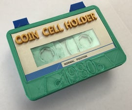 Cassette Coin Cell Holder