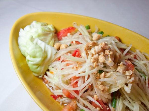 """Spicy Thai Papaya Salad - Aka """"Som Tam"""""""