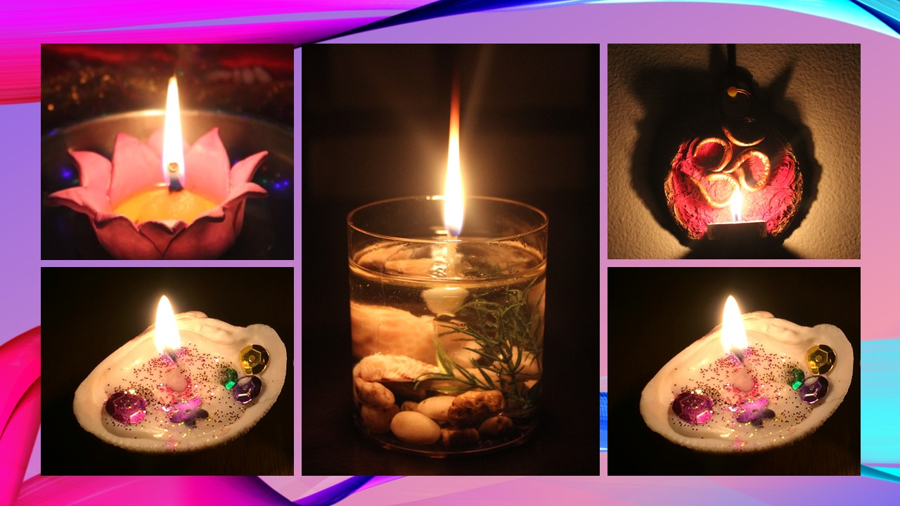 DIY 4 Different Style Candles - Christmas & Diwali Lighting