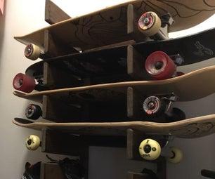 Easy Skateboard Rack