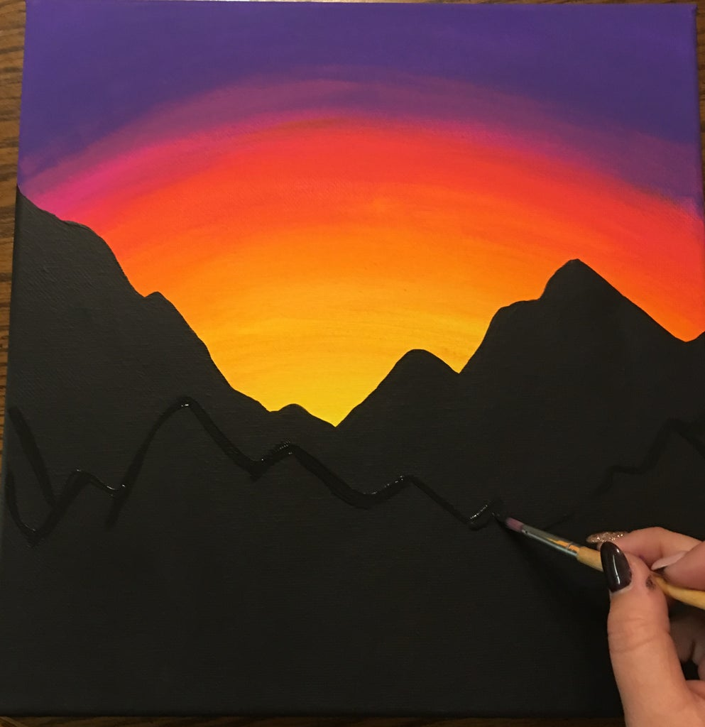 Paint a Mountain Sunset (for Beginners) : 10 Steps (with Pictures) - Instructables