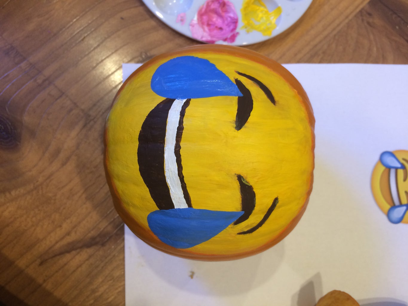 Painting the Crying Laughing Emoji