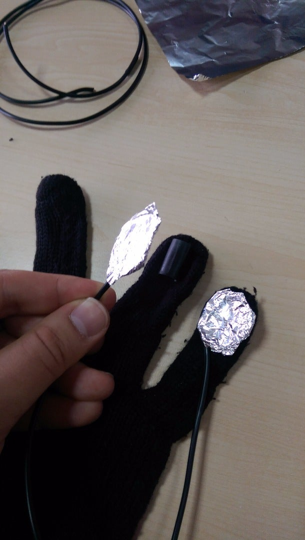 Sticking Finger Touch Senses on the Glove
