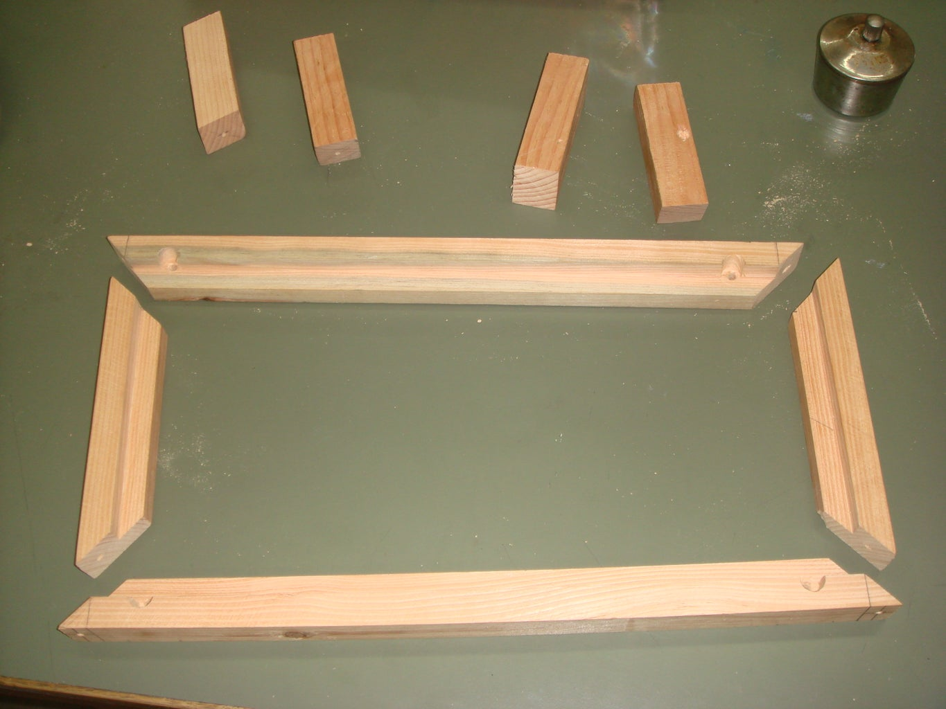 Building the Wooden Frame for the Reservoir