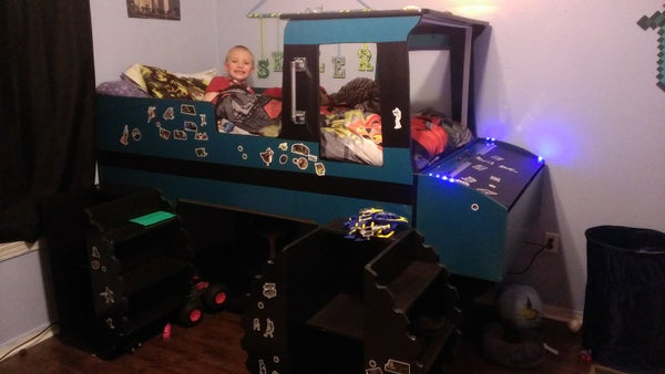 Kid's Monster Truck Loft Bed