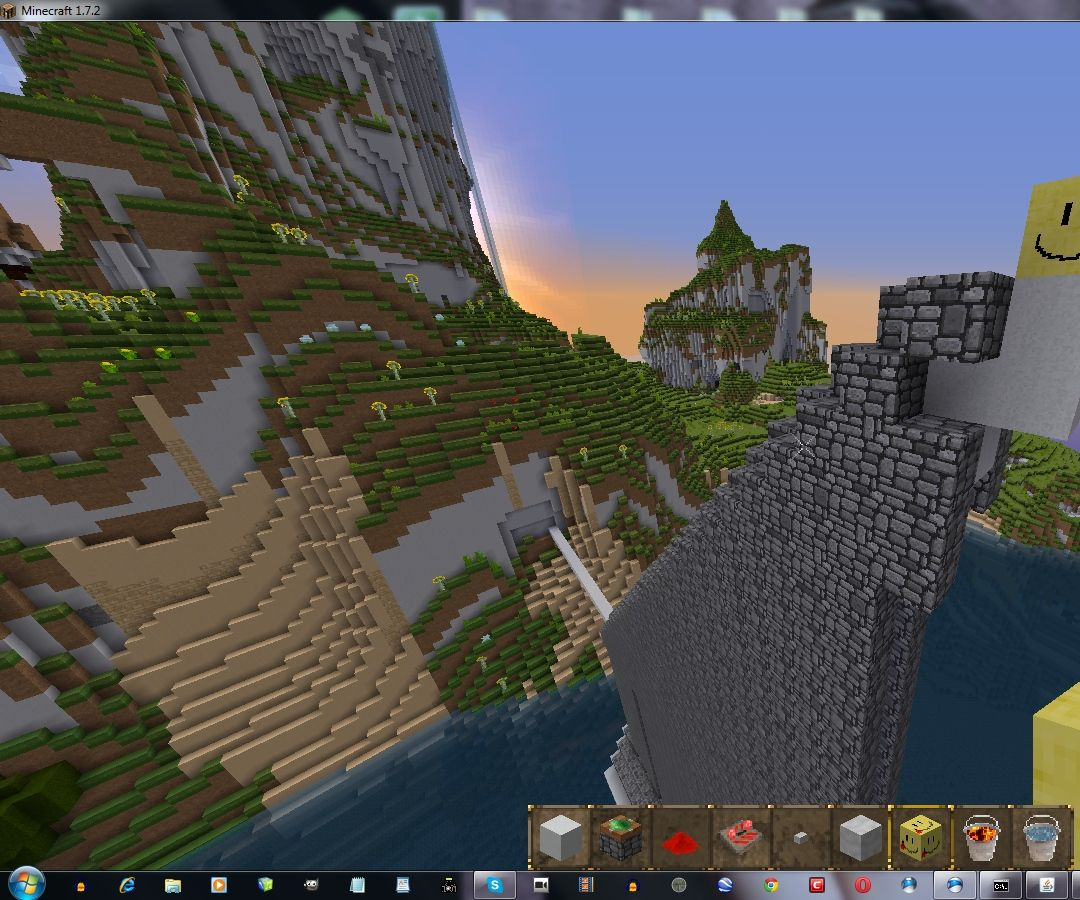 Instant walls in Minecraft
