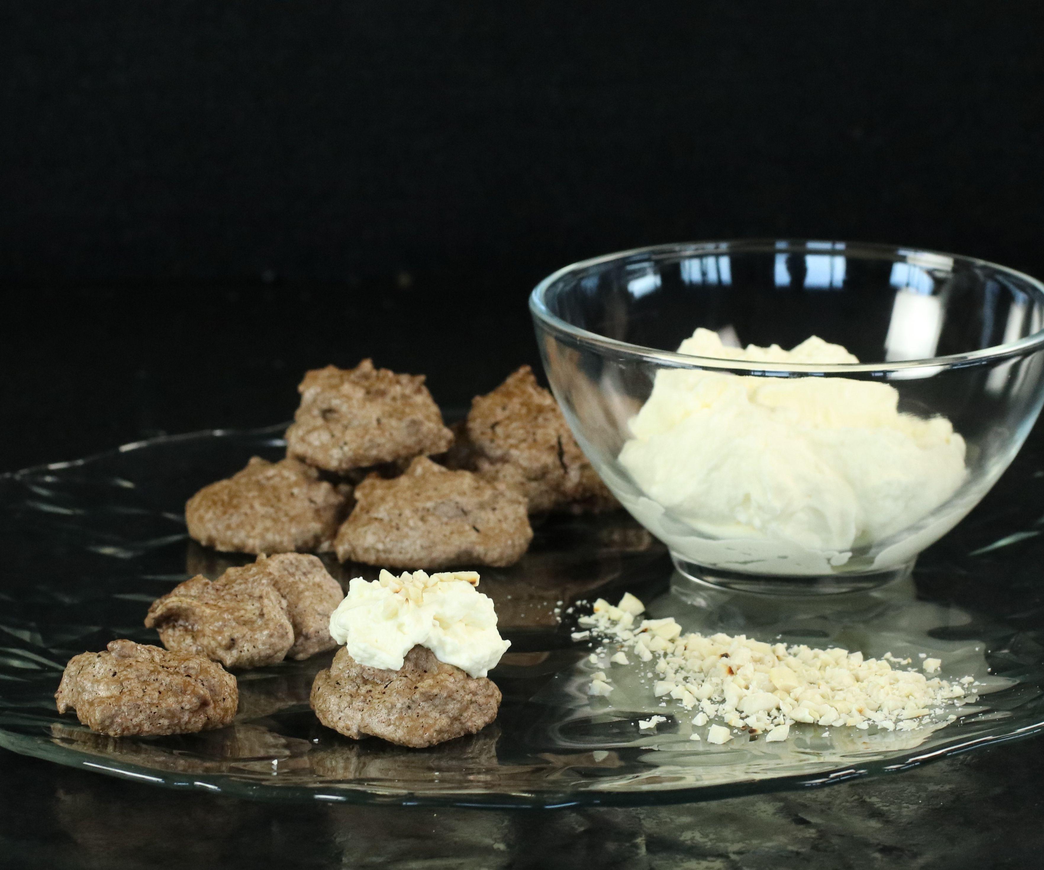Peanut Brownie Meringue Cookies