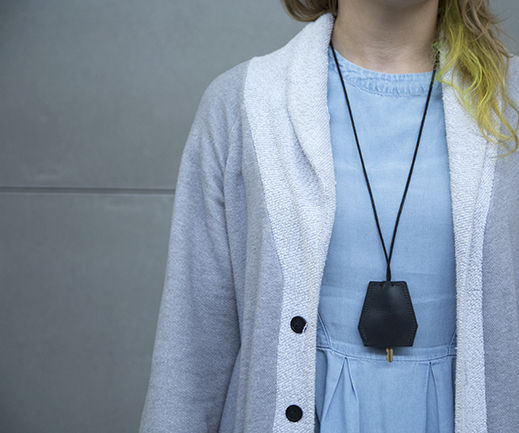 Leather Key Holder Necklace