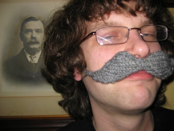 Knitted Moustache