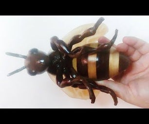 I Make a Honey Bee From Wood and Resin