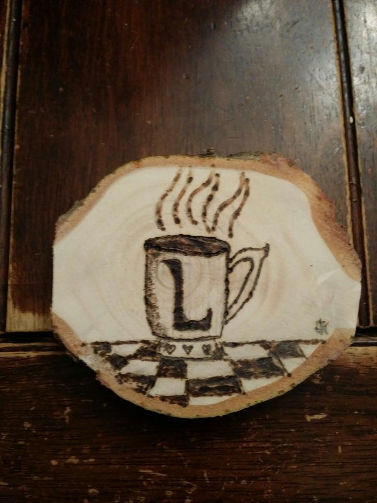 Coffee Coasters - Recycled Christmas Tree