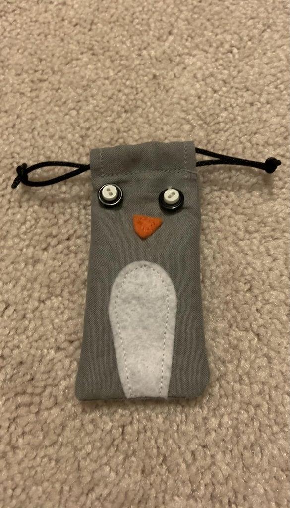 Penguin Draw String Bag