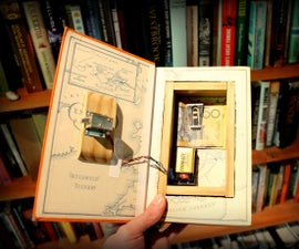 带隐藏磁铁锁的图书保险箱