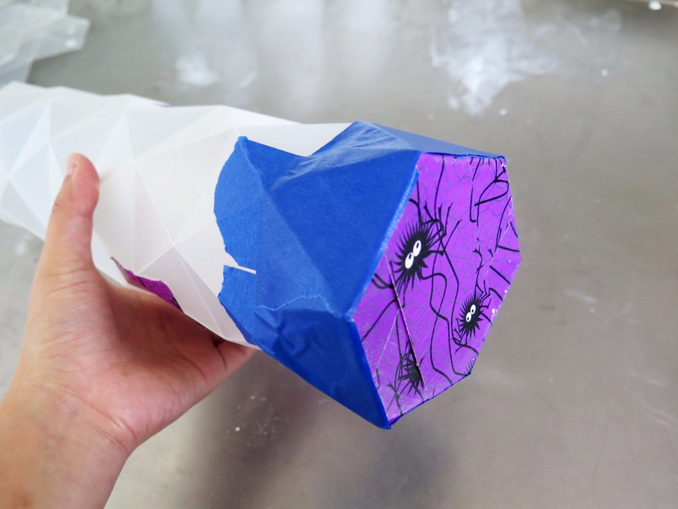 Fold Pattern Into Casting Container