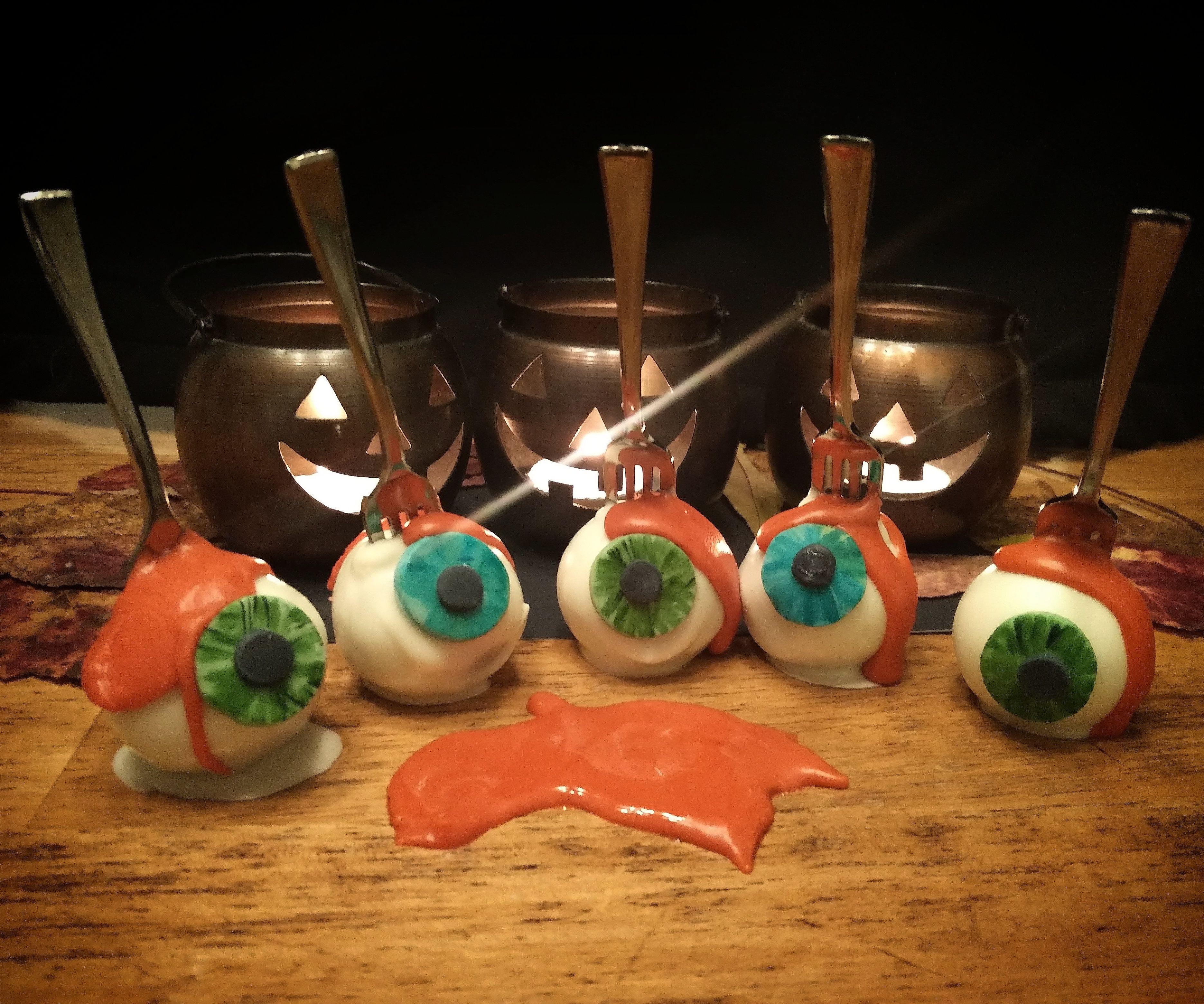 Impaled Eyeball Cake Pops