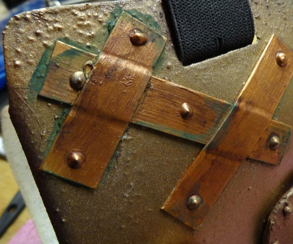 Fake Rivets, Plates and Metal From Paper and Paint