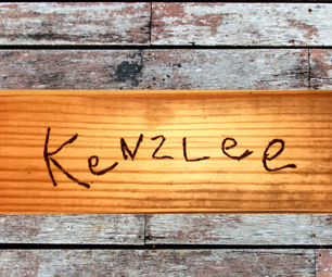 Pallet Wood Name Plate