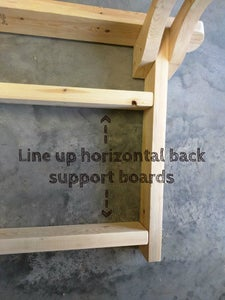 Sand and Attach Horizontal Back Support Boards.