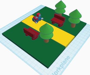 Cerberus Helper Social-Distancing Robot in a Park