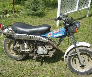 How to Kick Start a Motorbike.