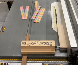 The Easiest Thin Strip Jig for the Table Saw