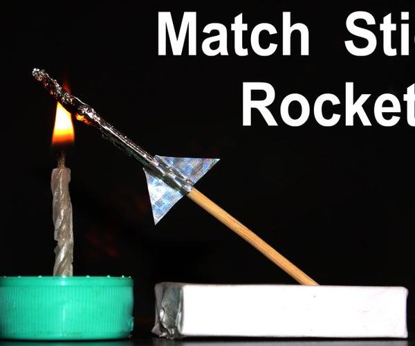 Make a Mini Matchstick Rocket With Matchstick Head and Launcher
