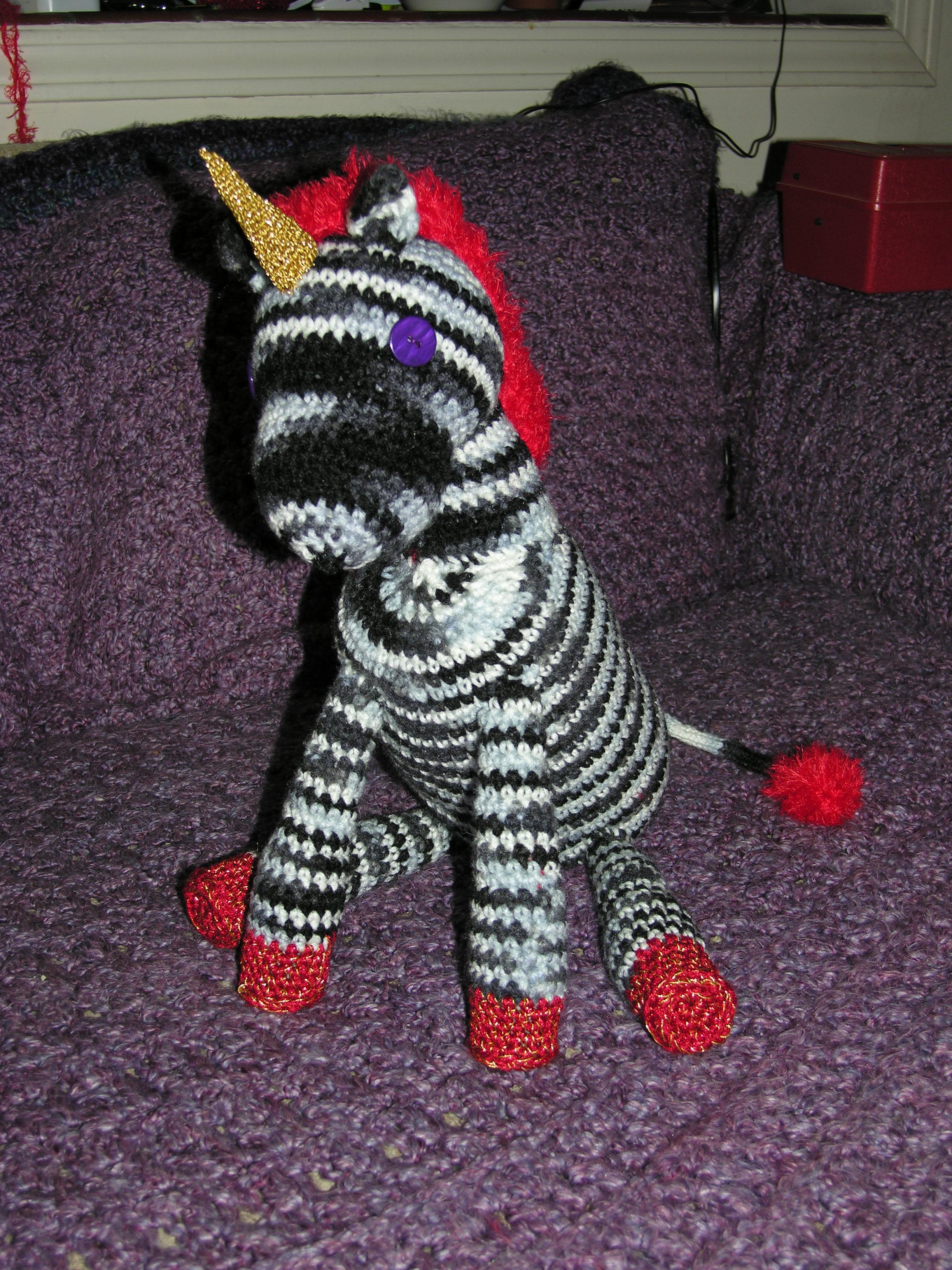 Crocheted Punk Unicorn Toy