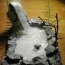 Hot Glue Waterfall