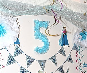 4 DIYs for Frozen Themed Birthday Decoration