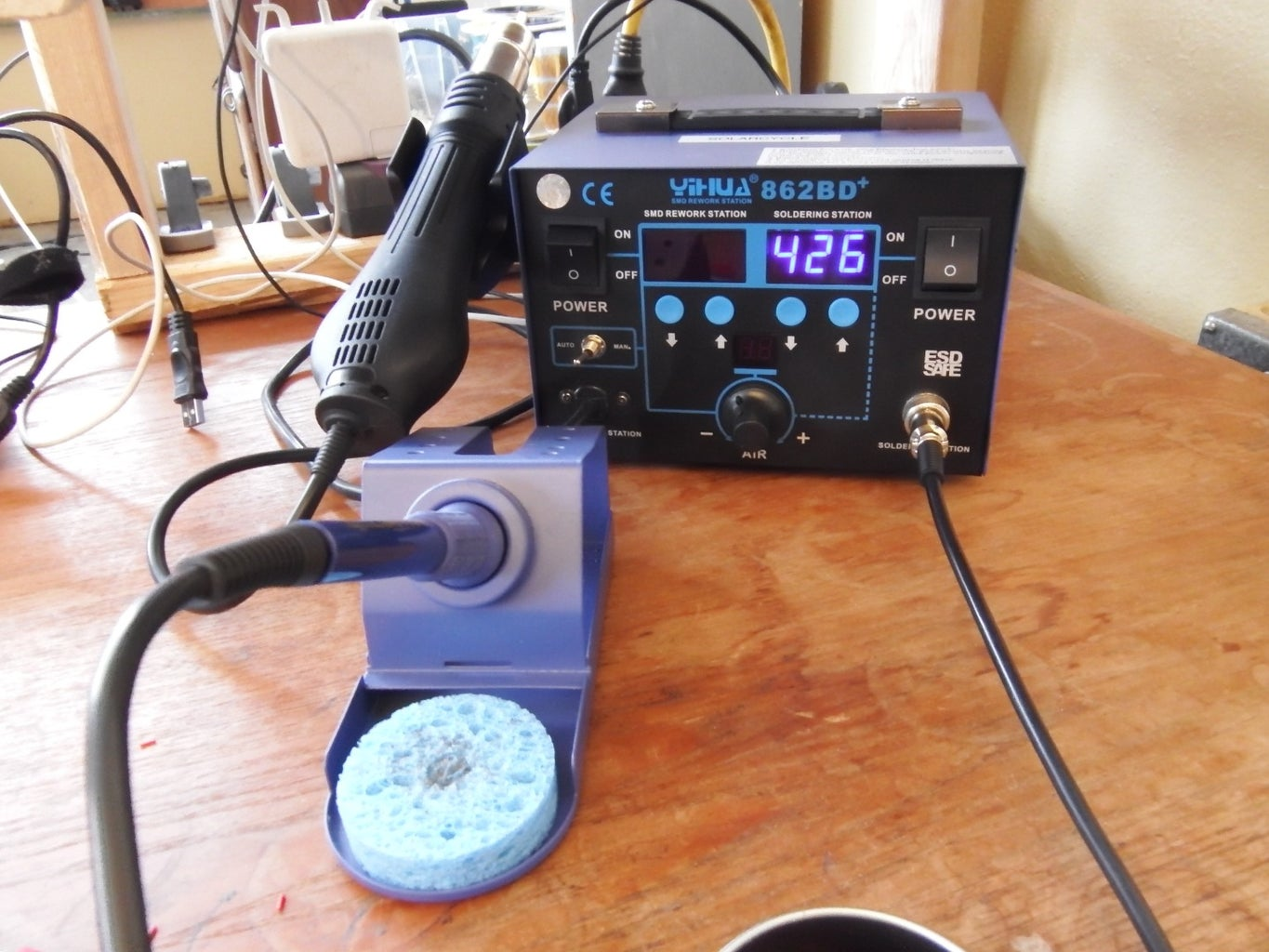 Lead-Free Soldering With a  2 in 1 Hot Air Iron Solder Station