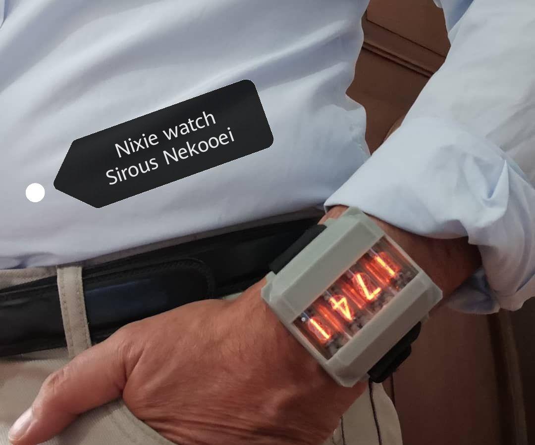 Nixie Wrist Watch, 4 Digits